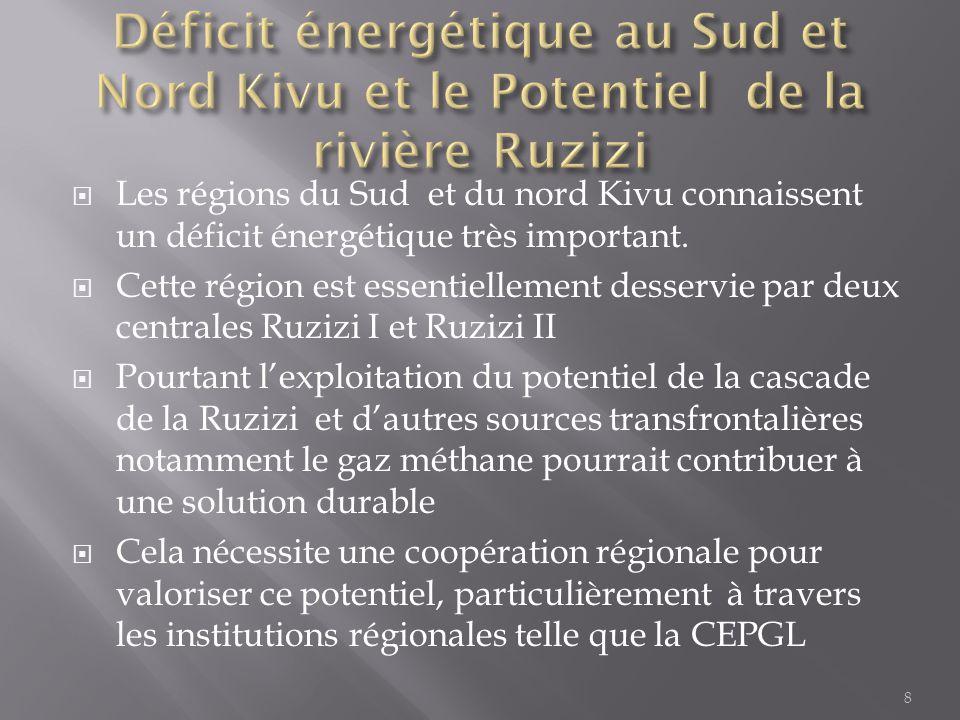 Déficit énergétique au Sud et Nord Kivu et le Potentiel de la rivière Ruzizi