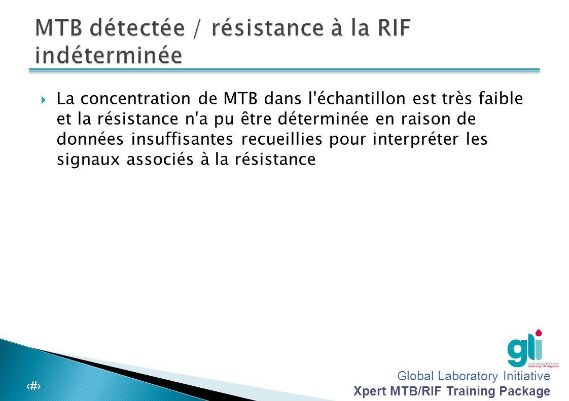 MTB détectée / résistance à la RIF indéterminée