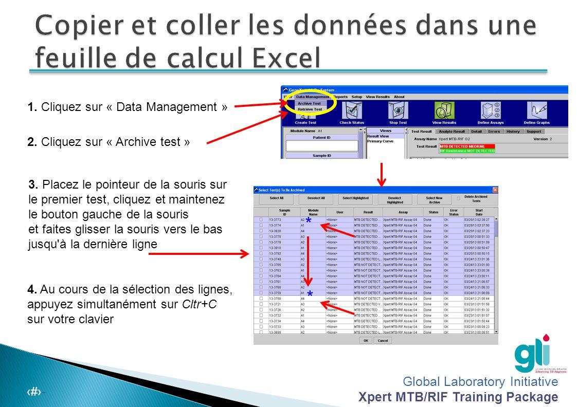 Copier et coller les données dans une feuille de calcul Excel