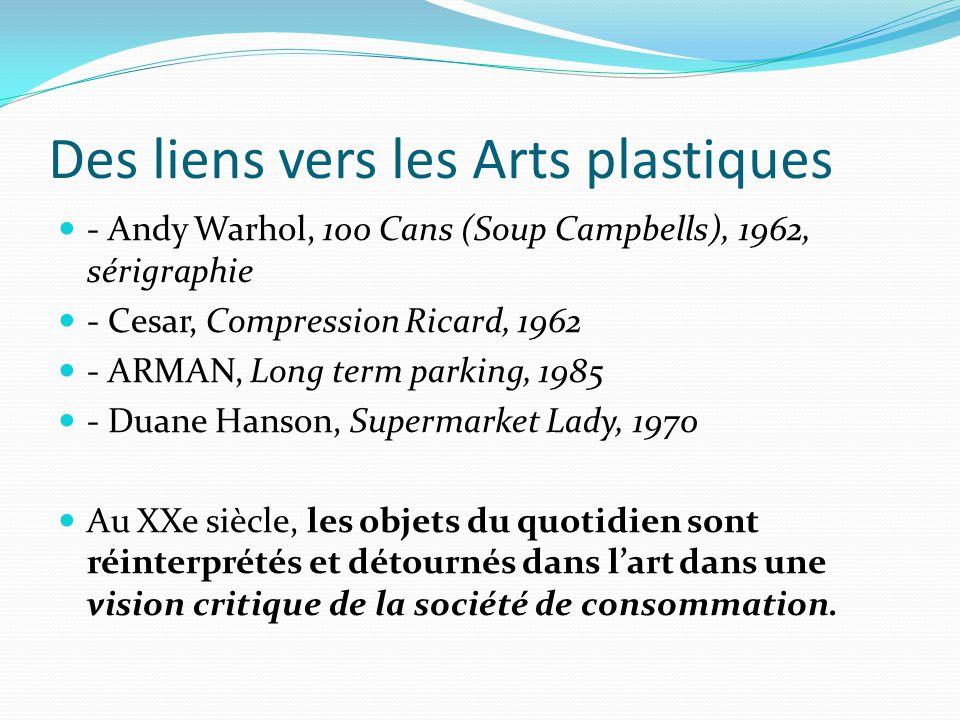 Des liens vers les Arts plastiques