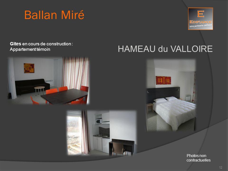 Ballan Miré HAMEAU du VALLOIRE Gîtes en cours de construction :