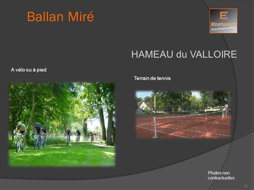 Ballan Miré HAMEAU du VALLOIRE A vélo ou à pied Terrain de tennis