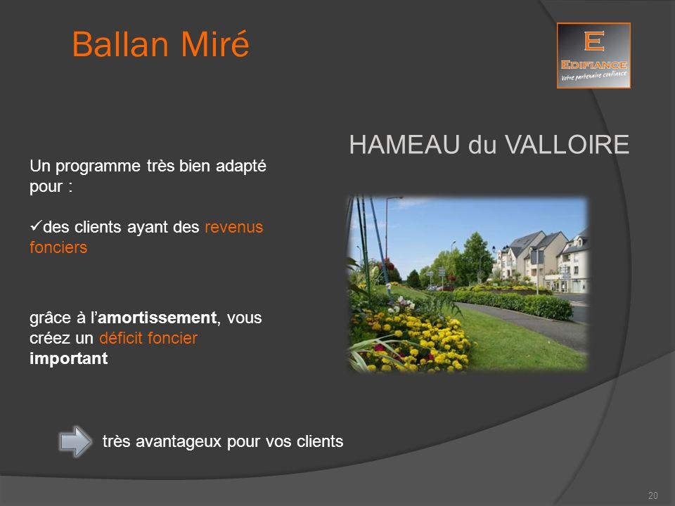 Ballan Miré HAMEAU du VALLOIRE Un programme très bien adapté pour :