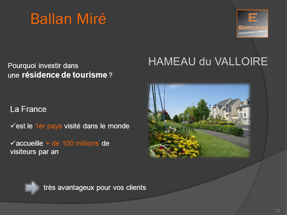 Ballan Miré HAMEAU du VALLOIRE La France Pourquoi investir dans