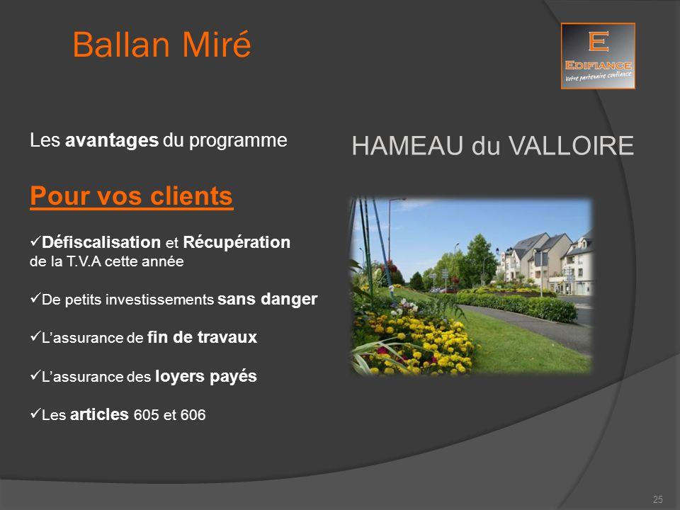 Ballan Miré HAMEAU du VALLOIRE Pour vos clients