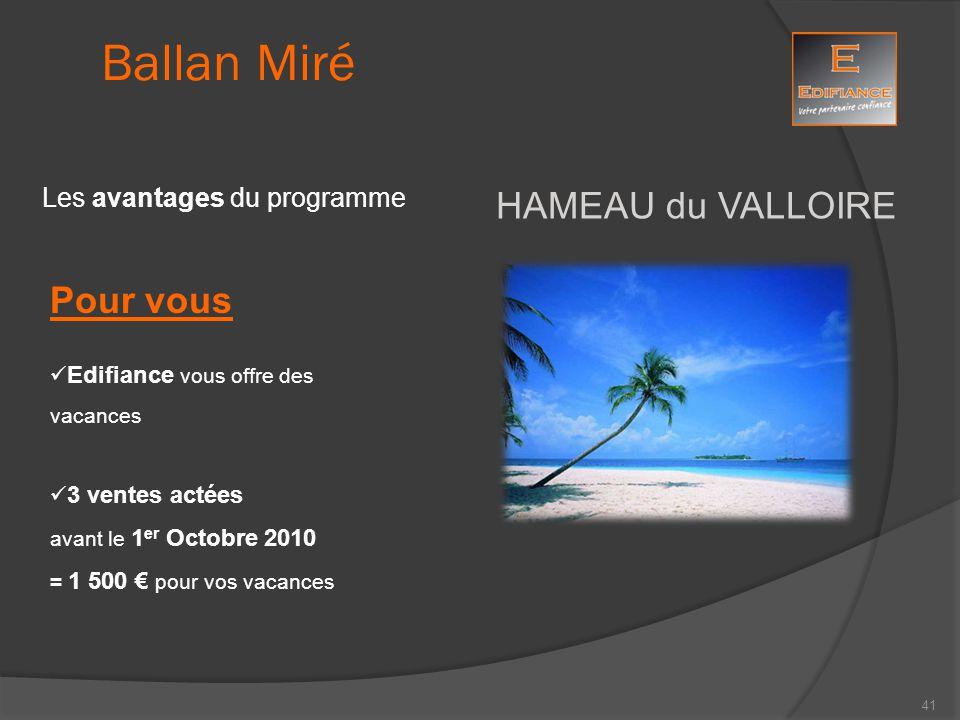 Ballan Miré HAMEAU du VALLOIRE Pour vous Les avantages du programme