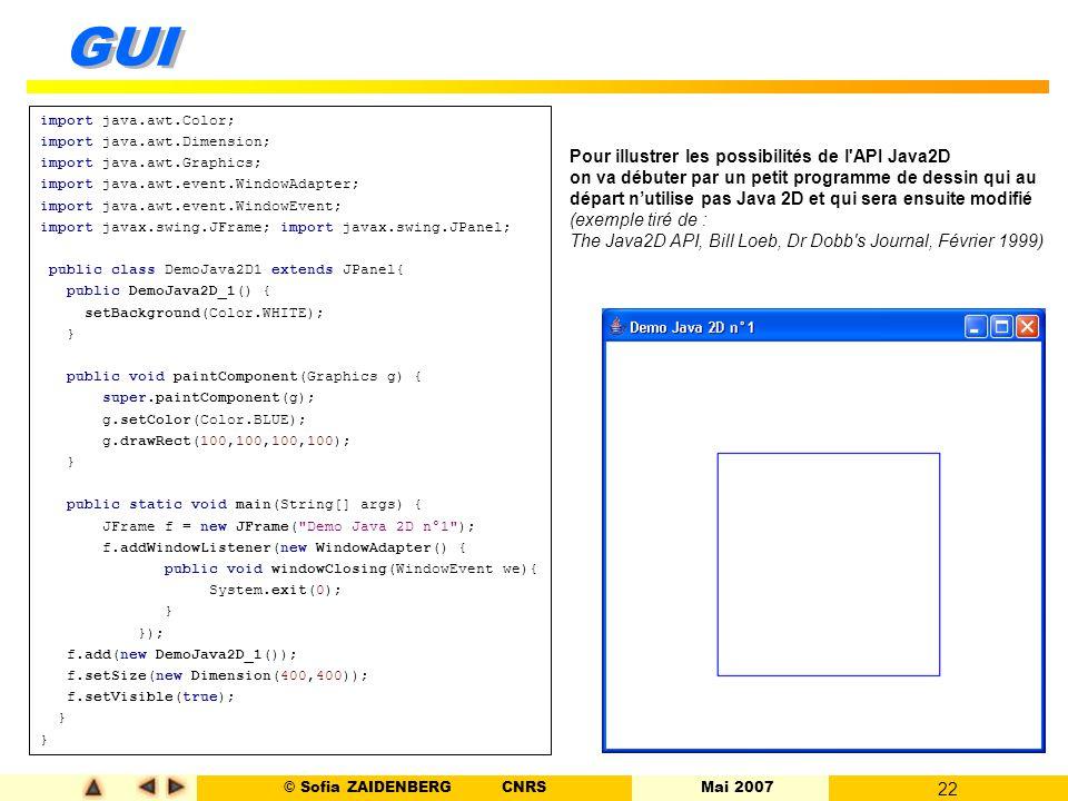 Pour illustrer les possibilités de l API Java2D