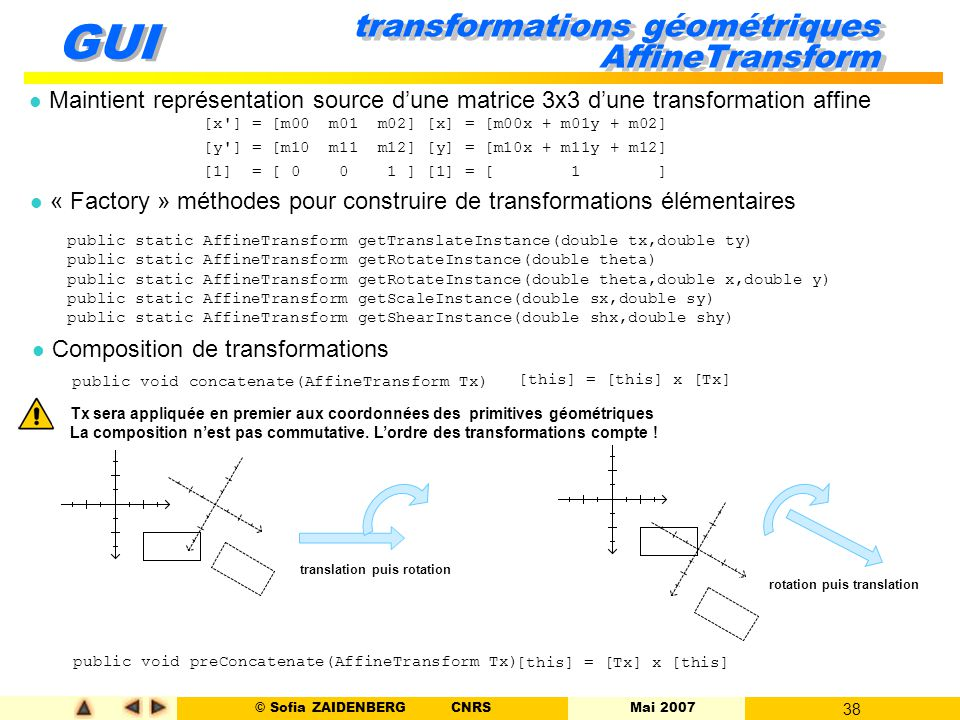 transformations géométriques AffineTransform