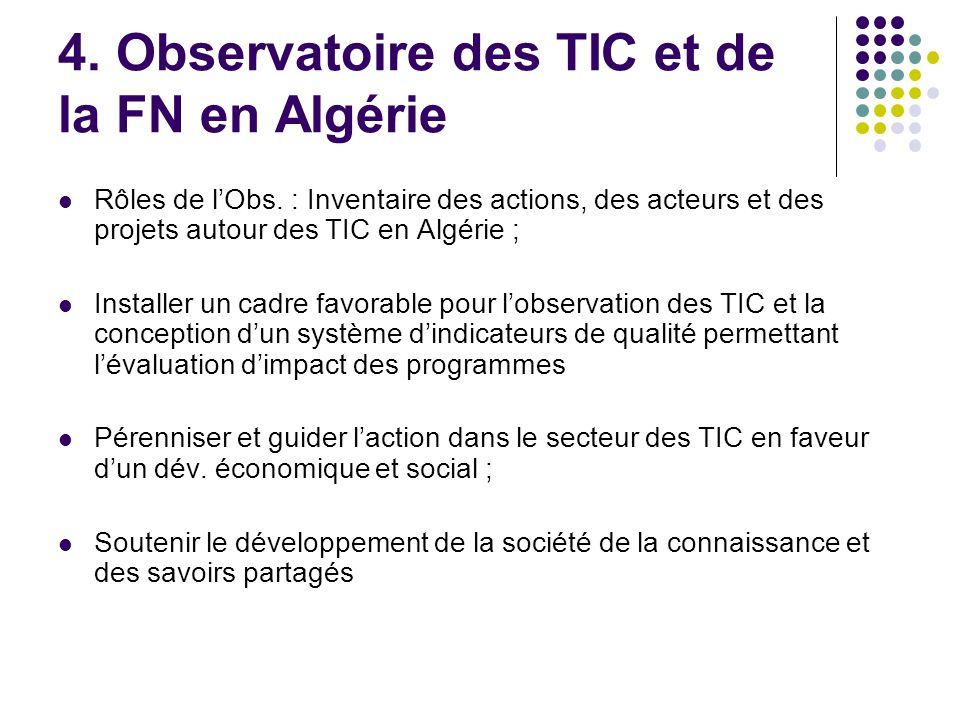 4. Observatoire des TIC et de la FN en Algérie