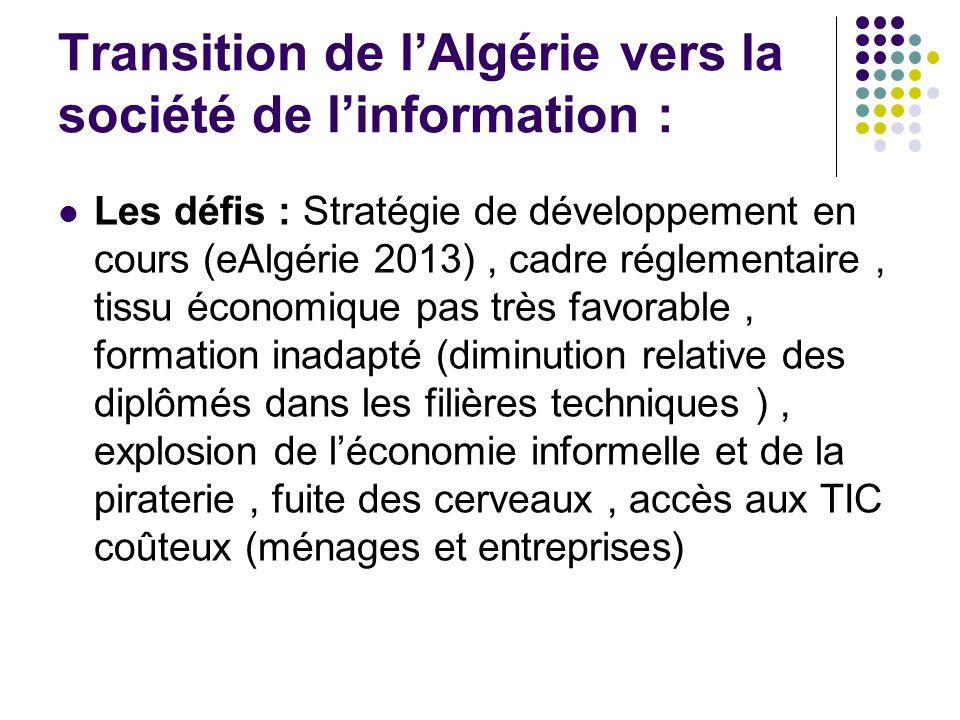 Transition de l'Algérie vers la société de l'information :