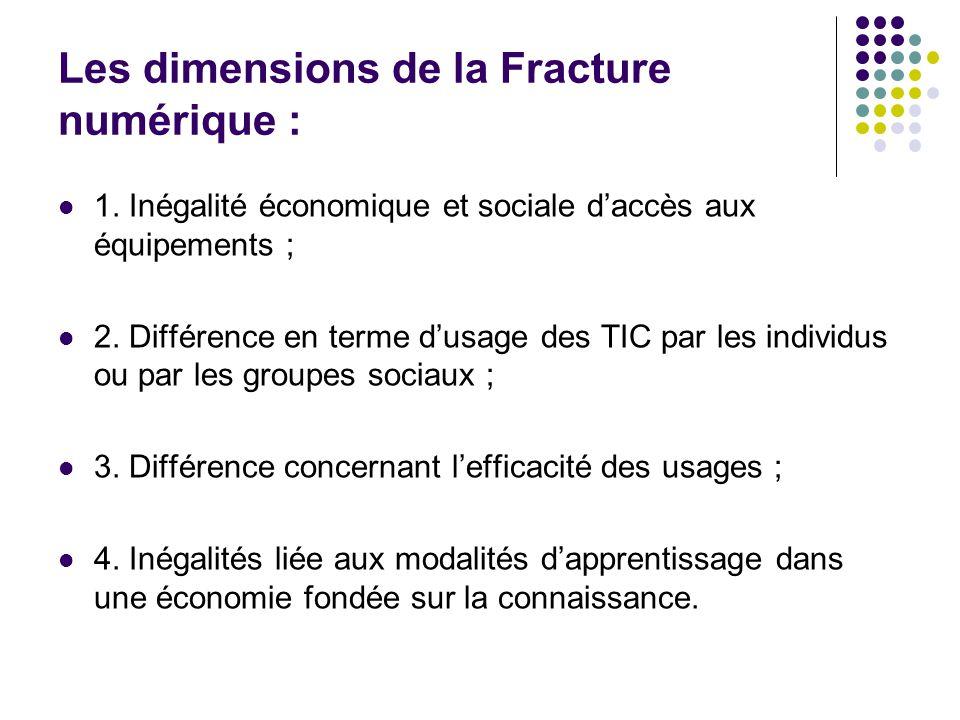 Les dimensions de la Fracture numérique :