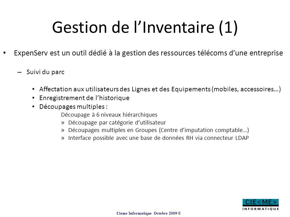 Gestion de l'Inventaire (1)