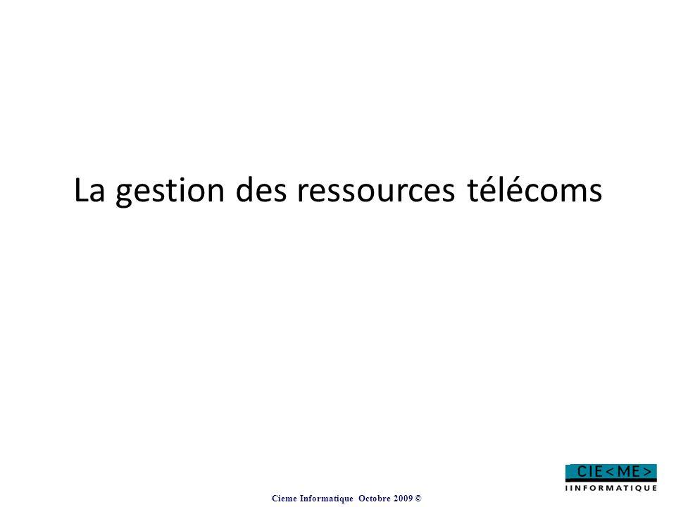 La gestion des ressources télécoms