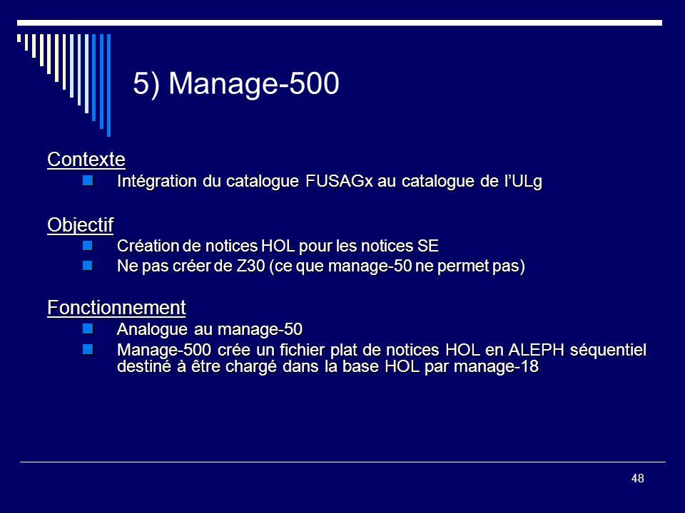 5) Manage-500 Contexte Objectif Fonctionnement