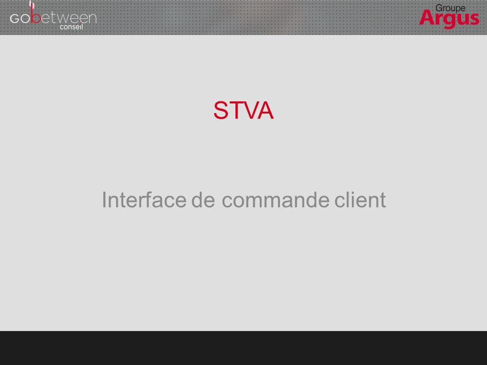 Interface de commande client