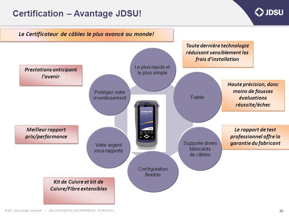 Certification – Avantage JDSU!