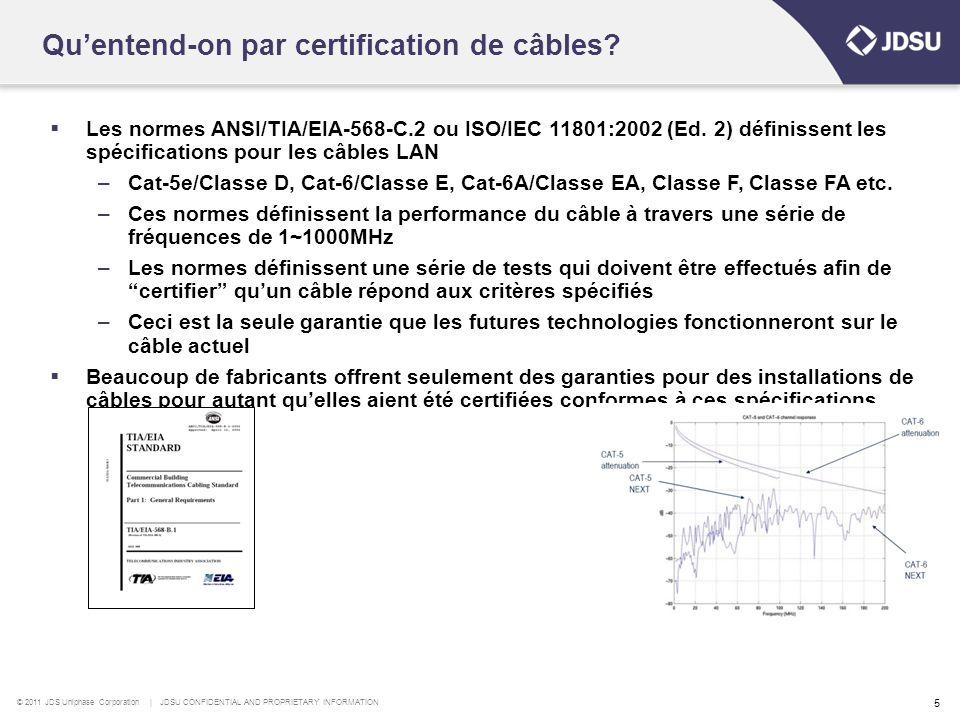 Qu'entend-on par certification de câbles