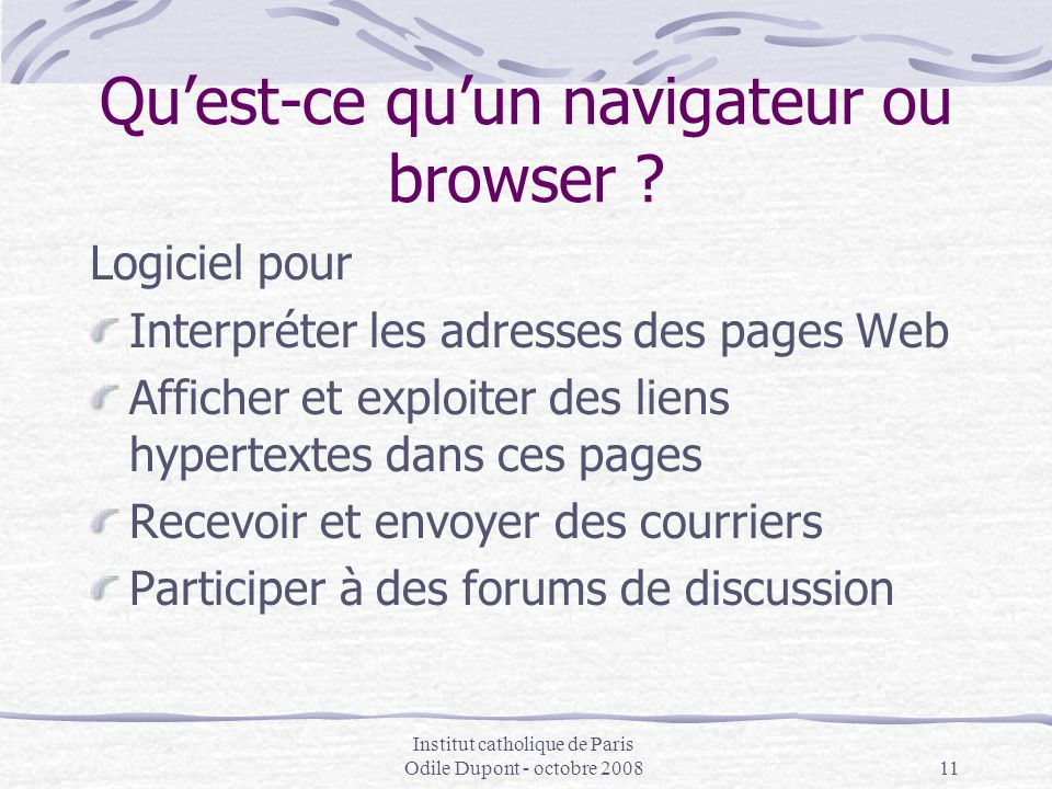 Qu'est-ce qu'un navigateur ou browser