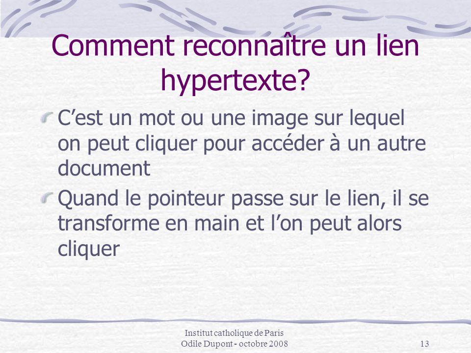 Comment reconnaître un lien hypertexte