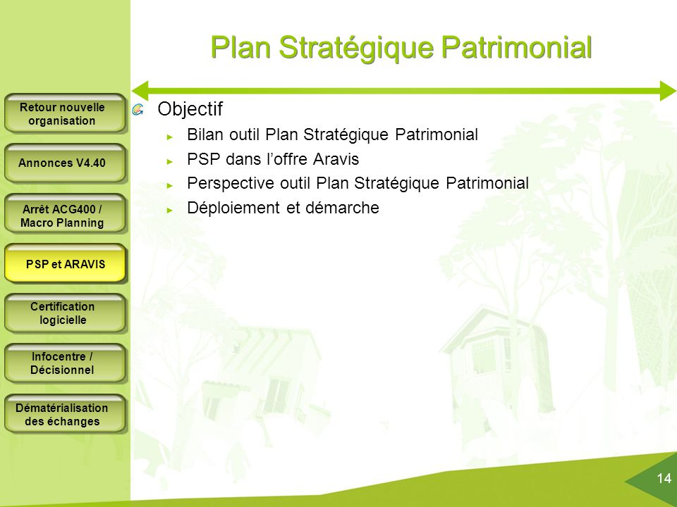 Plan Stratégique Patrimonial