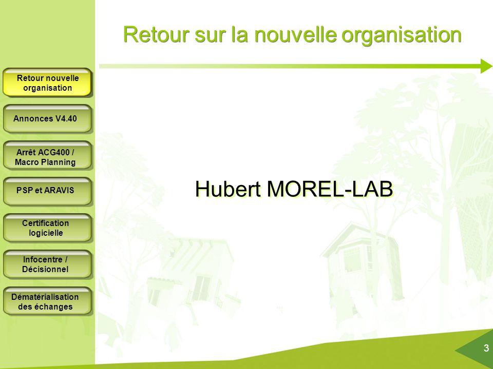 Retour sur la nouvelle organisation Hubert MOREL-LAB