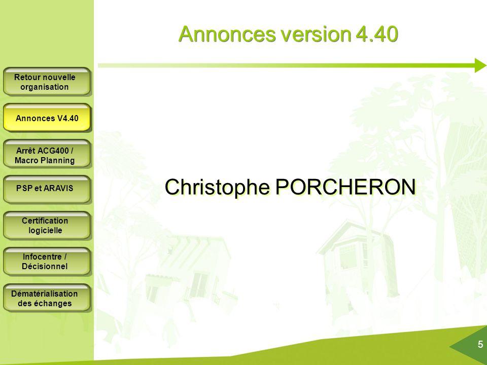 Annonces version 4.40 Annonces V4.40 Christophe PORCHERON