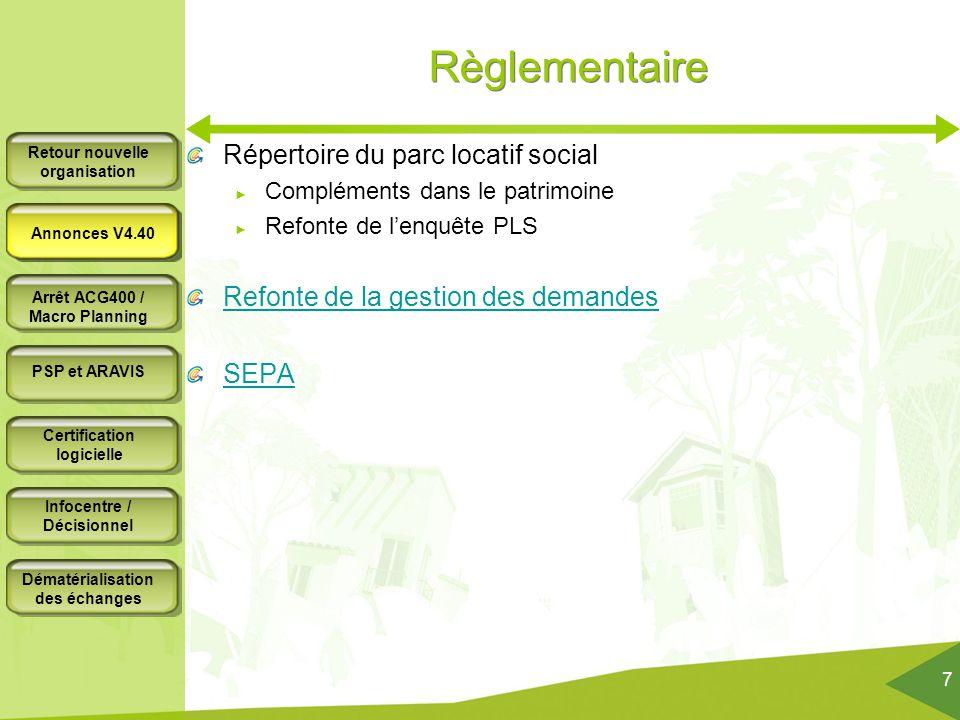 Règlementaire Répertoire du parc locatif social