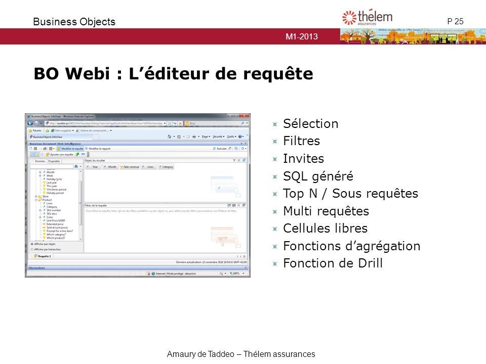 BO Webi : L'éditeur de requête