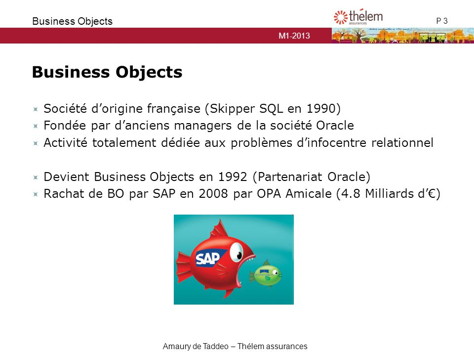 Business Objects Société d'origine française (Skipper SQL en 1990)
