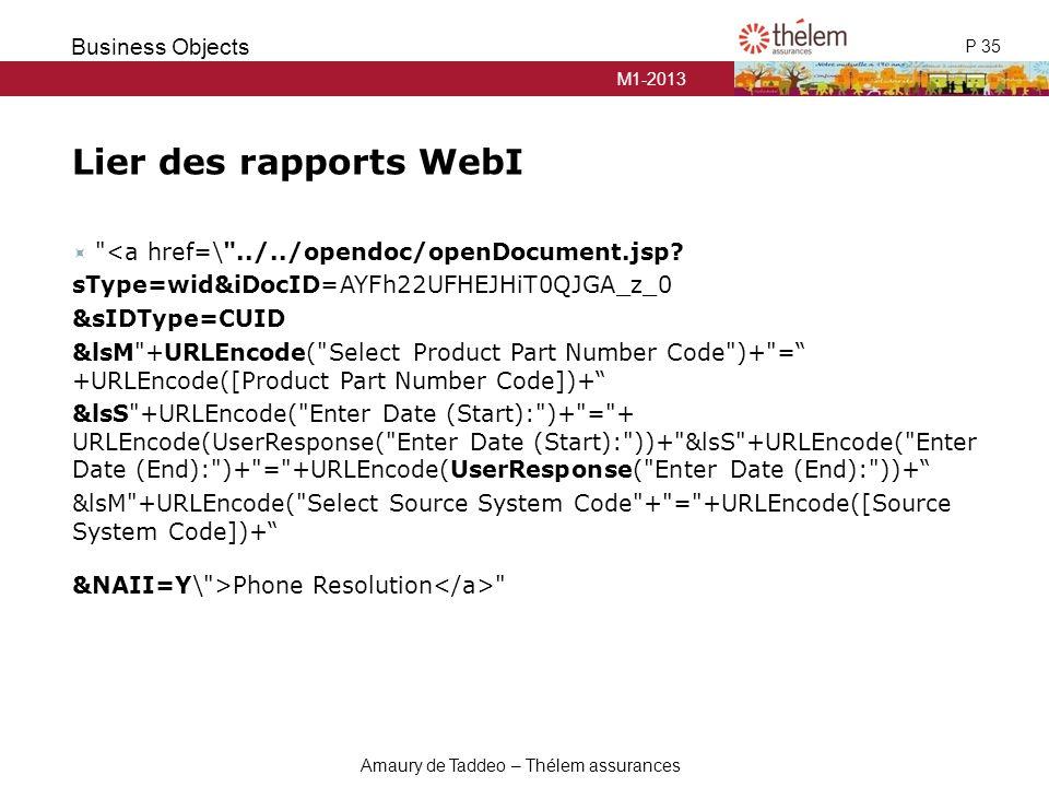 Lier des rapports WebI <a href=\ ../../opendoc/openDocument.jsp