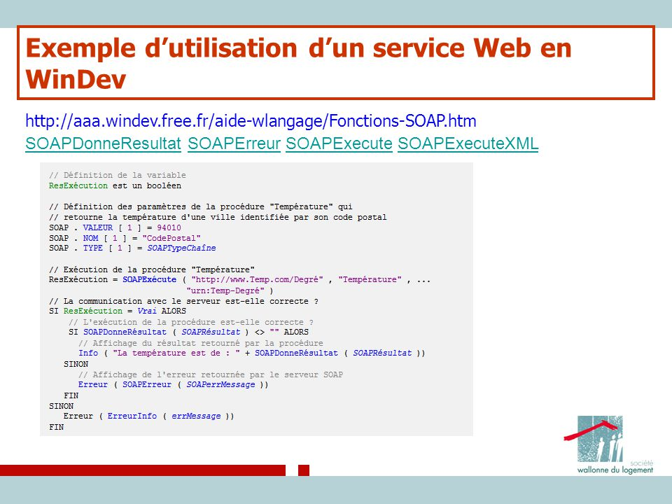 Exemple d'utilisation d'un service Web en WinDev