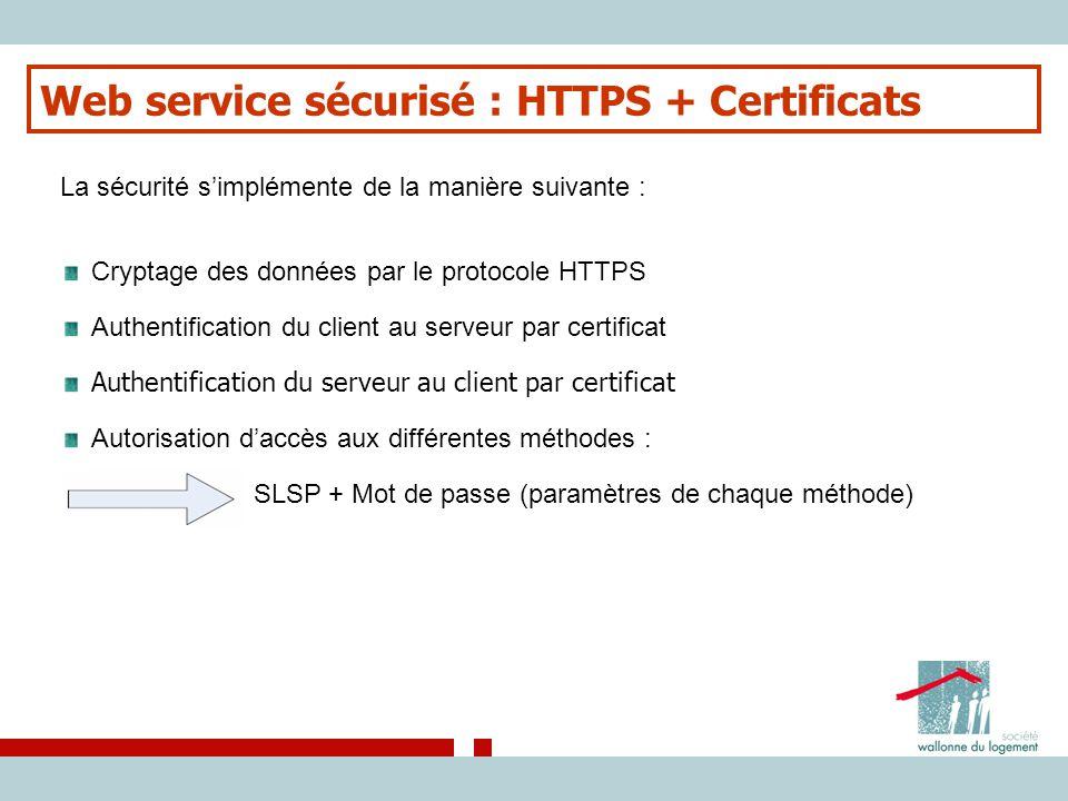 Web service sécurisé : HTTPS + Certificats