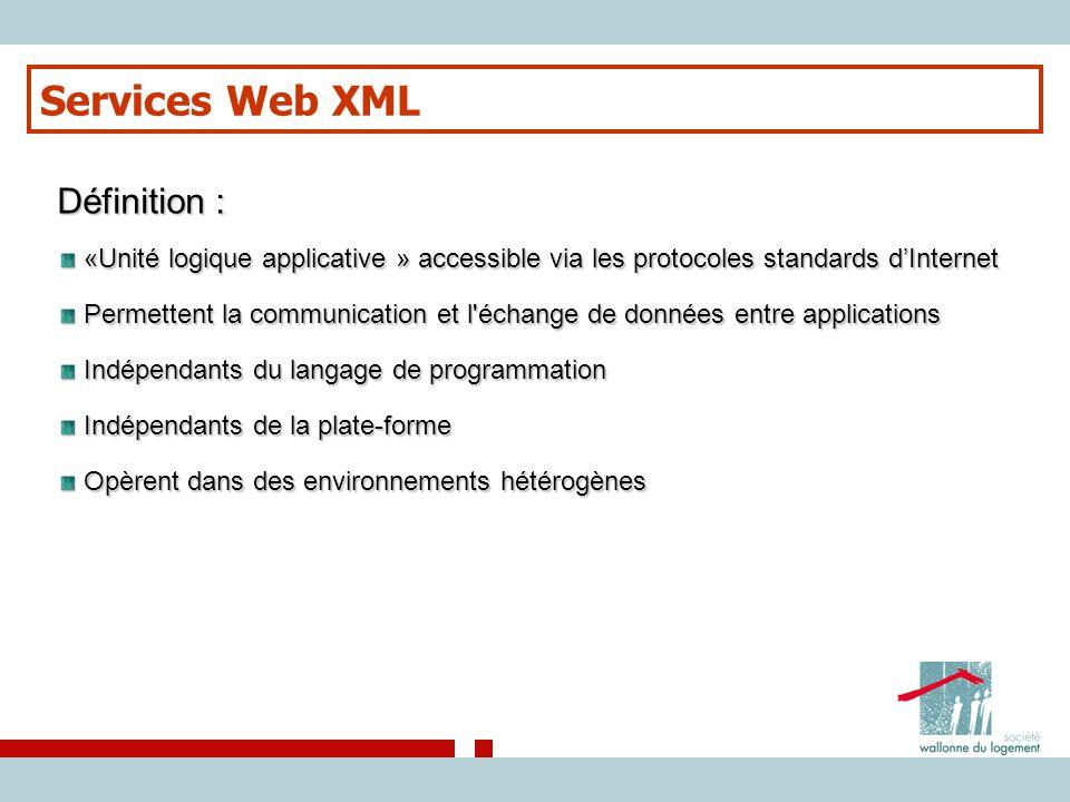 Services Web XML Définition :