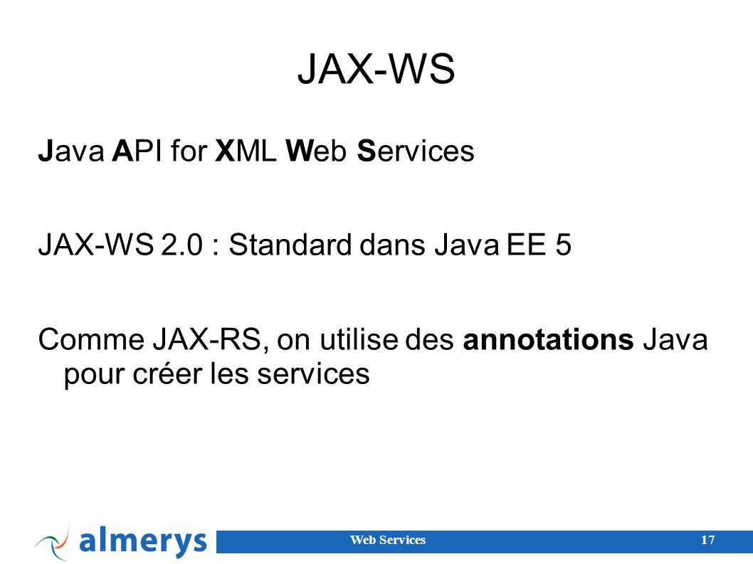 JAX-WS Java API for XML Web Services