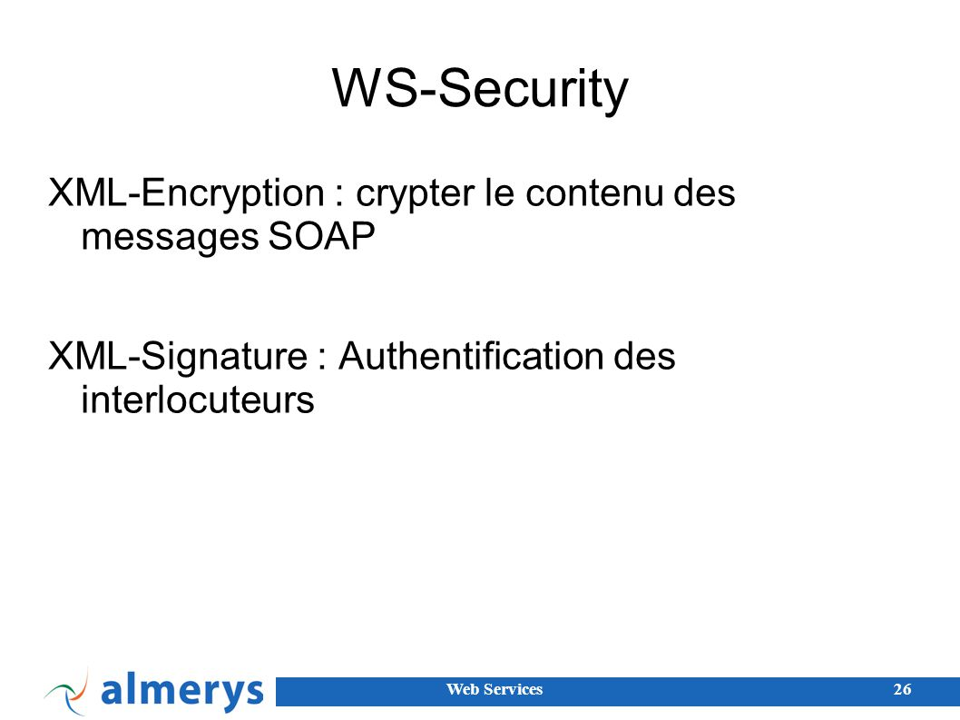 WS-Security XML-Encryption : crypter le contenu des messages SOAP