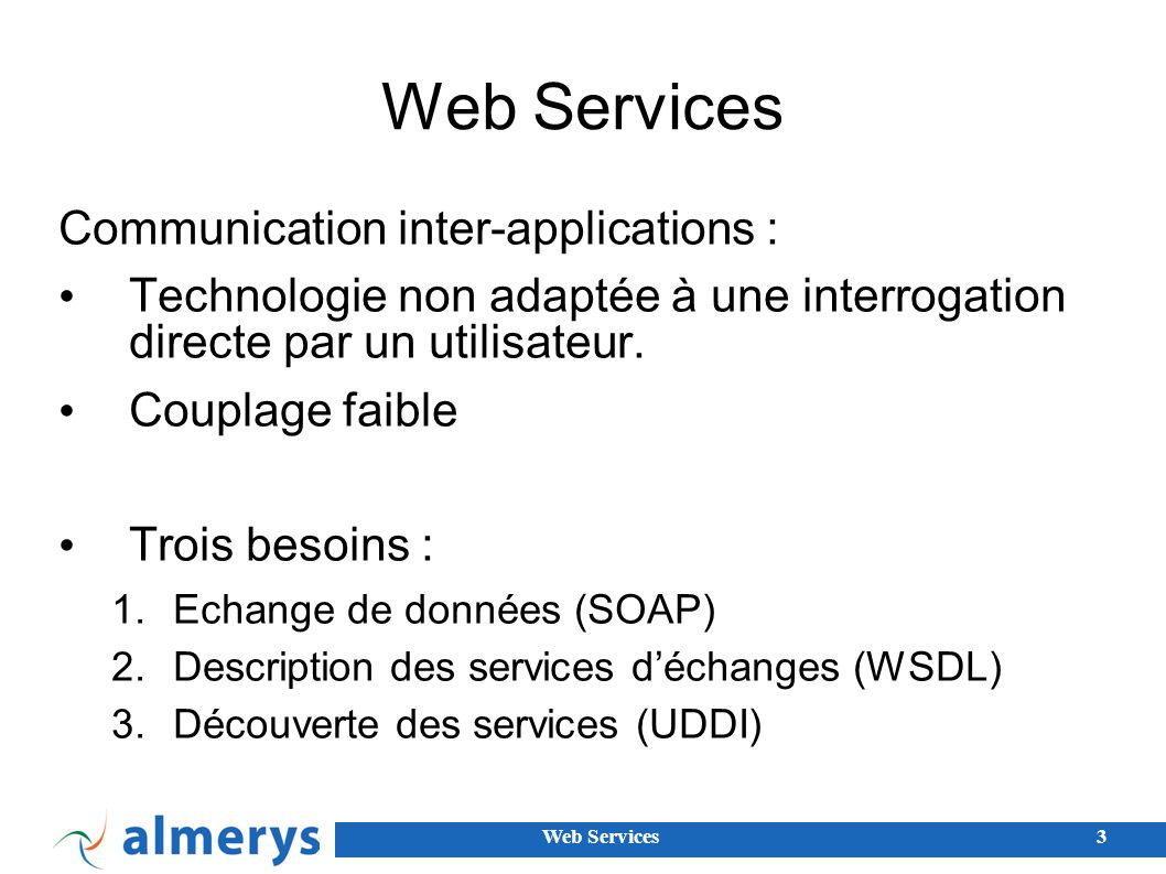 Web Services Communication inter-applications :