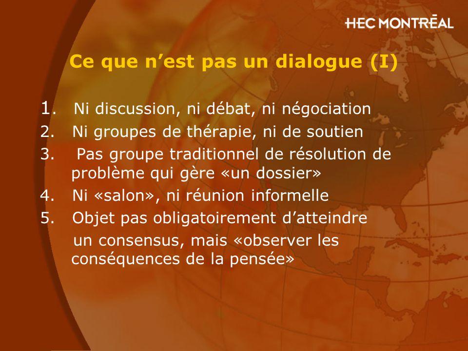 Ce que n'est pas un dialogue (I)