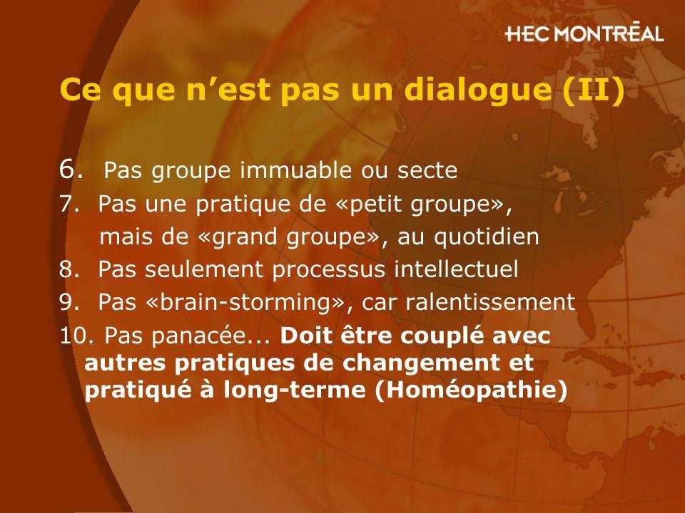 Ce que n'est pas un dialogue (II)
