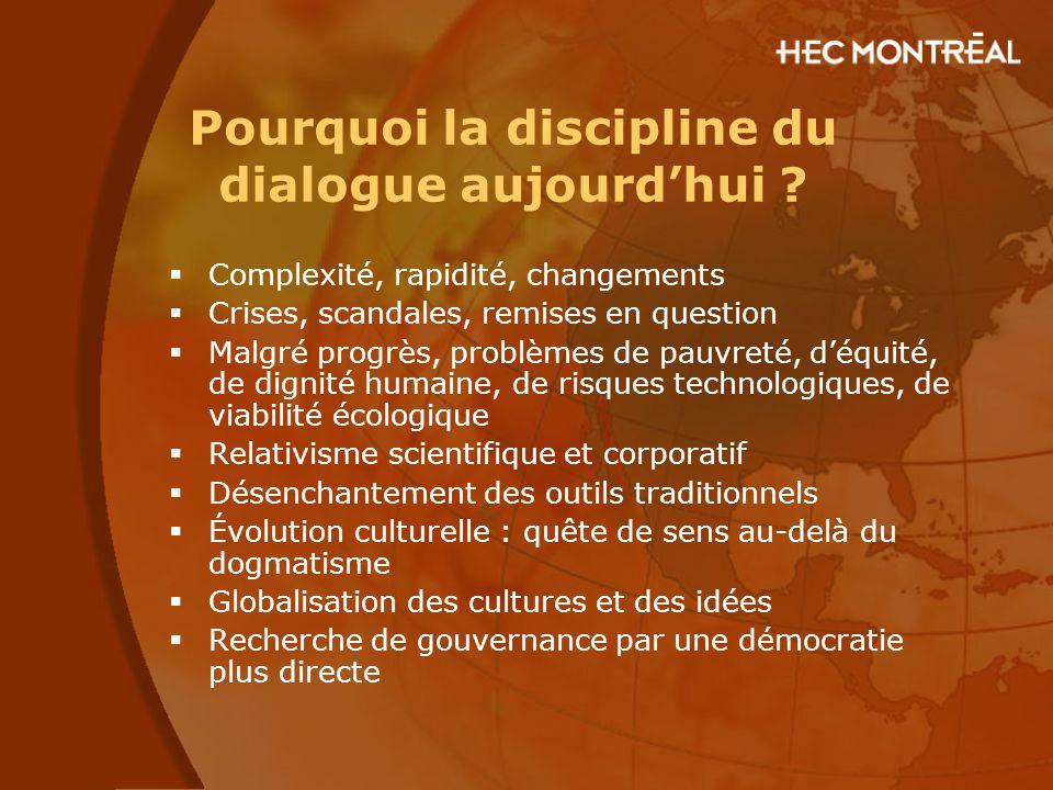 Pourquoi la discipline du dialogue aujourd'hui
