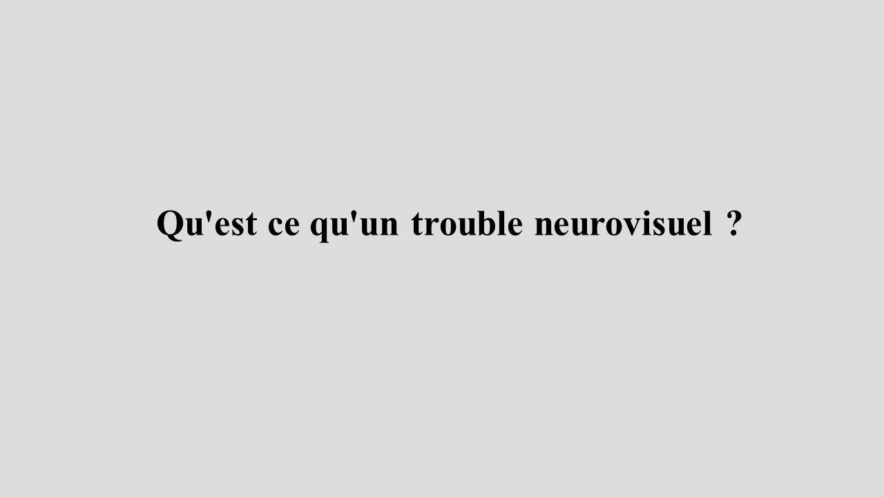 Qu est ce qu un trouble neurovisuel