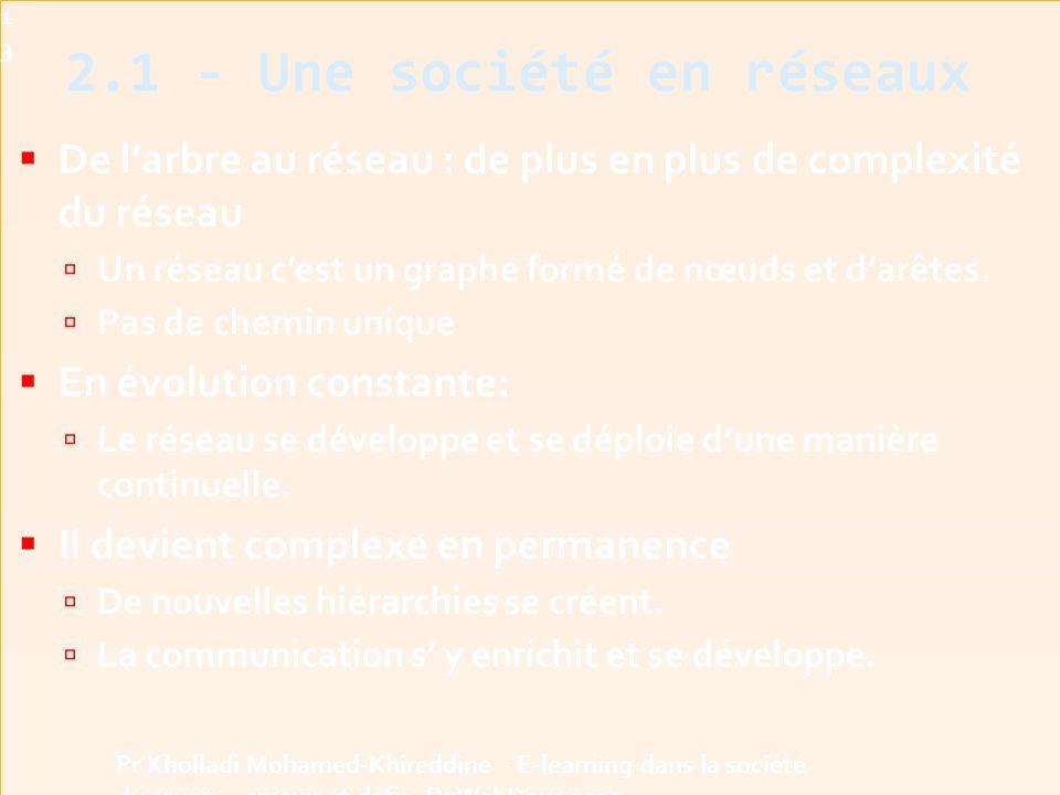2.1 - Une société en réseaux
