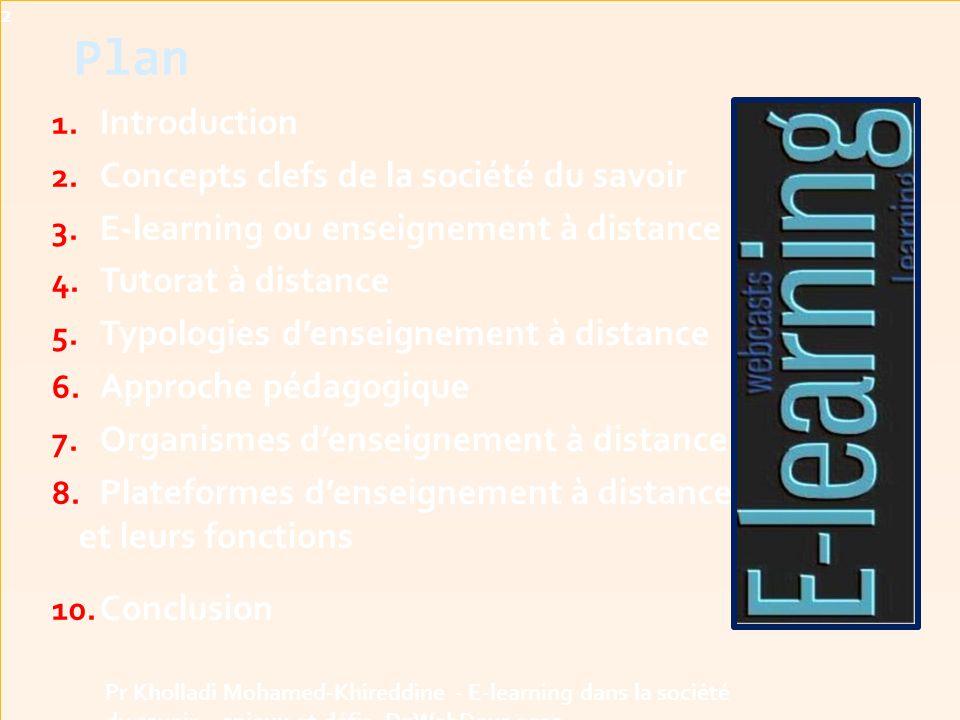 Plan Introduction Concepts clefs de la société du savoir