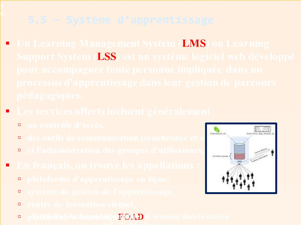 5.5 – Système d'apprentissage