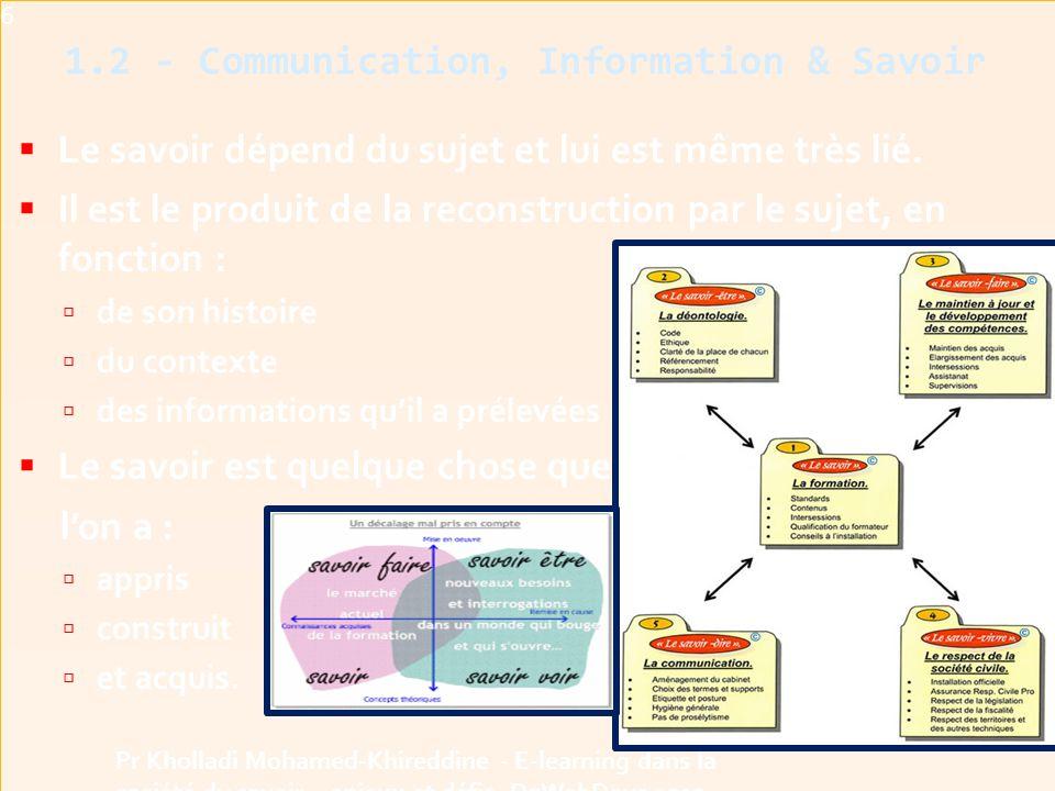 1.2 - Communication, Information & Savoir