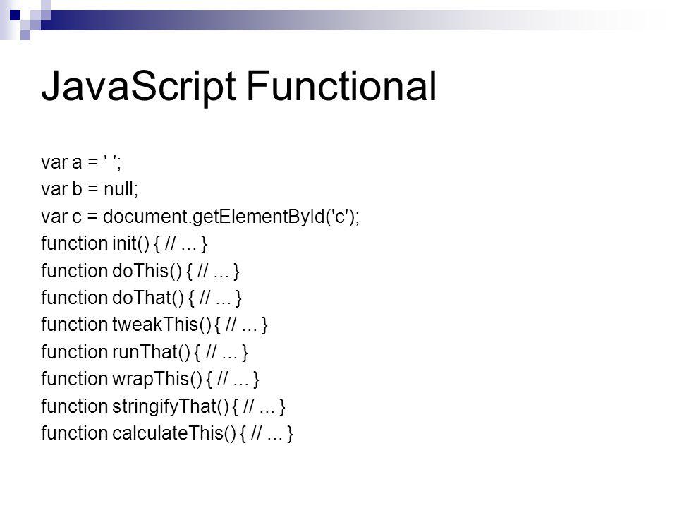 JavaScript Functional