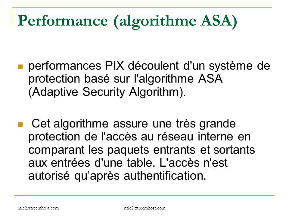 Performance (algorithme ASA)