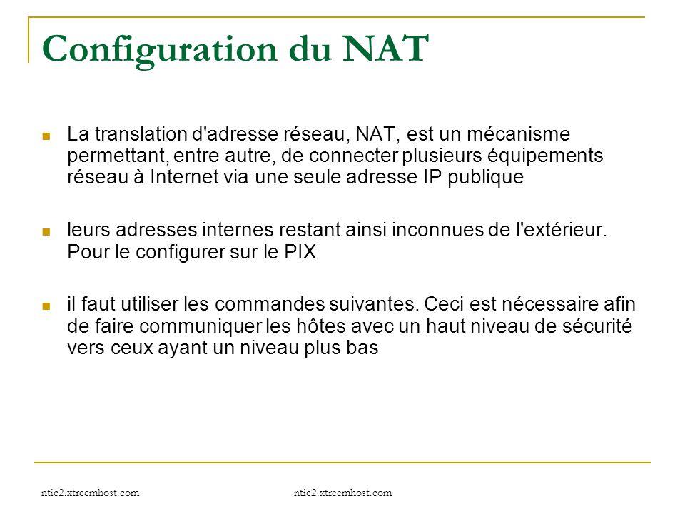 Configuration du NAT