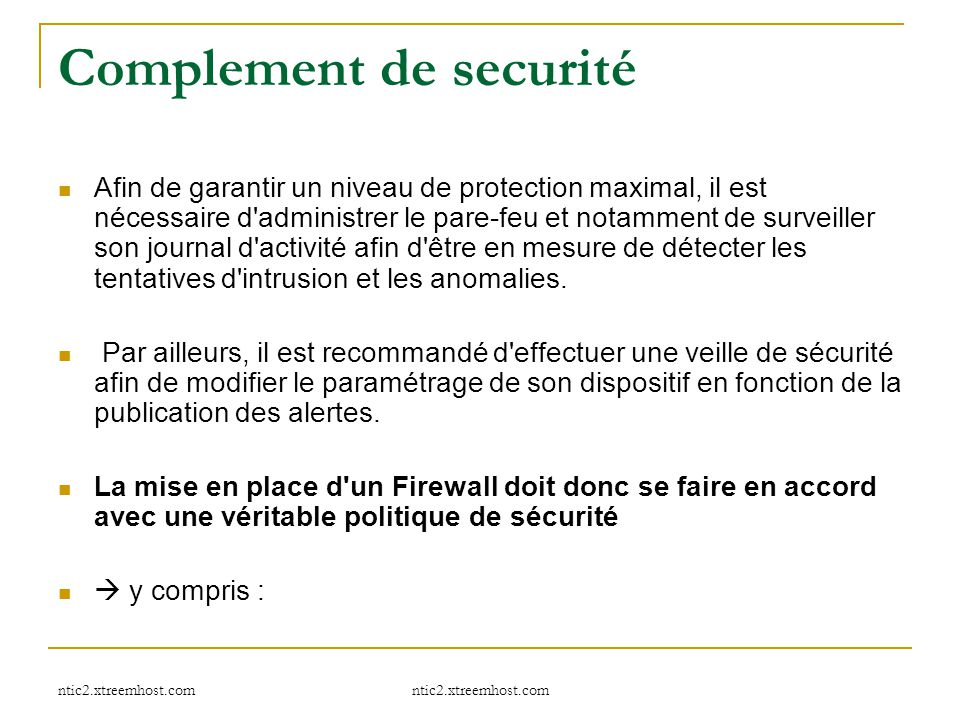 Complement de securité