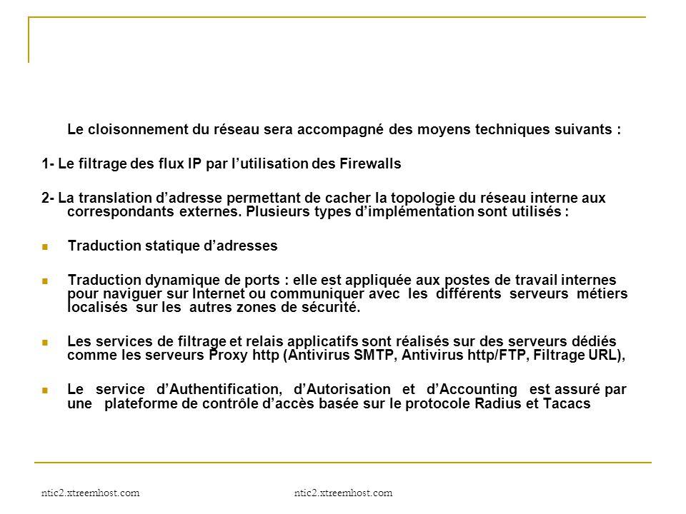 1- Le filtrage des flux IP par l'utilisation des Firewalls