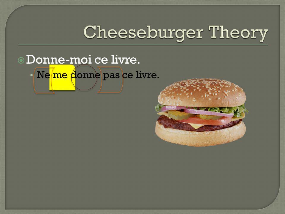 Cheeseburger Theory Donne-moi ce livre. Ne me donne pas ce livre.